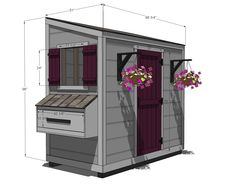Ana White Build a Shed Chicken Coop Free and Easy DIY Project and Furniture Plans Chicken Barn, Diy Chicken Coop Plans, Portable Chicken Coop, Backyard Chicken Coops, Building A Chicken Coop, Building A Shed, Chickens Backyard, White Chicken, Building Plans