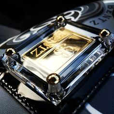 Lucite covering 18k gold hardware on the Bentz Luxury Satchel
