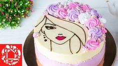 Cake Decorating Videos, Cake Decorating Techniques, Cookie Decorating, Makeup Birthday Cakes, Candy Birthday Cakes, Buttercream Cake Designs, Cake Icing, Hairdresser Cake, Simple Cake Designs