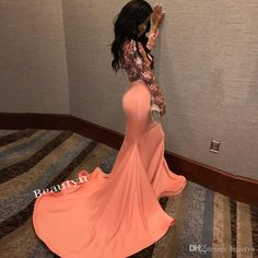Sexy Sheer Lace Back Mermaid Prom Dress 2017 South Africa Long Sleeves Scoop Ruffles Skirt Custom Made Evening Dresses Gown For Black Girls Cute Short Prom Dresses, Black Girl Prom Dresses, Petite Prom Dress, Prom Dresses Long With Sleeves, Sexy Dresses, Evening Dresses, Mermaid Prom Dresses Lace, Mermaid Evening Gown, Dresses Uk