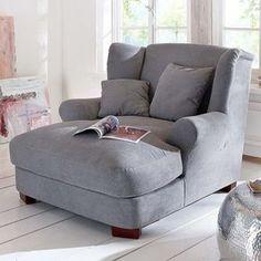 Gemütliche sessel  Sessel aus 100% Polyester in der Farbe Grau, inkl. zwei Kissen. B ...