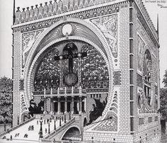 Fidus (Hugo Höppener), Temple of the Earth, Elevation, 1901