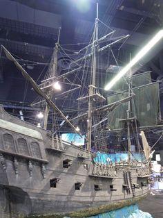 Black Pearl pirate ship miniature