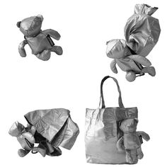 fab99b0913d Bear Tote Bag - Frederic Perigot  Bear converts to Tote   Slim Bear. Made  of Ripstock Nylon and available in red