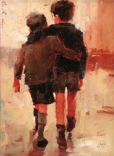 Friends by Andre Kohn - Greenhouse Gallery of Fine Art