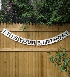 It's Your Birthday Party Garland | Gifts Cards & Stationery | Earmark Social Goods | Scoutmob Shoppe | Product Detail