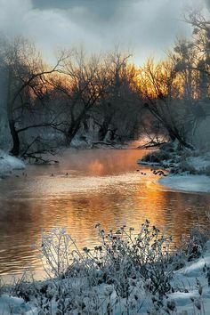 Winter Sunset, Winter Scenery, Beautiful World, Beautiful Places, Beautiful Pictures, Winter Photography, Nature Photography, Snow Scenes, Winter Beauty