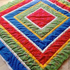 """Купить Покрывало на кровать (quilt) """"Сказка"""" - разноцветный, покрывало, покрывало пэчворк, покрывало на кровать"""
