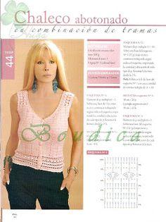 10 MODELOS DE HERMOSAS POLERAS PARA TEJER A CROCHET CON PATRONES GRÁFICOS 2015 - 2016 | Patrones Crochet, Manualidades y Reciclado