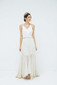 'Daisy Chain Lace skirt' and 'Delphi slip'