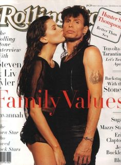 """1994 Rolling Stone magazine back issue, Steven Tyler (Aerosmith) and Liv Tyler """"Family Values"""", November 1994 Issue No. 694 by MuppetLoveVintage on Etsy Aerosmith Concert, Keanu Matrix, Celebrity Daughters, Celebrity Children, Celebrity Dads, Rolling Stone Magazine Cover, Liv Tyler 90s, Bebe Buell, 1990s"""