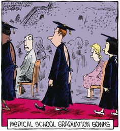 Bahahaha I wonder if my gown will look like this  when I graduate:) hahha