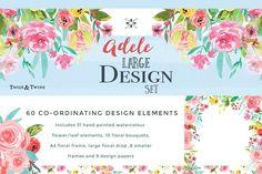 Adele Watercolour Flower Design Set