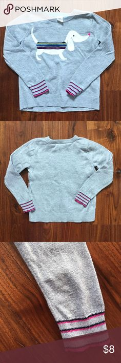 Baby Gap Weiner Dog Lightweight Sweater 5 Years Baby Gap Weiner Dog Lightweight Sweater 5 Years. EUC. Mild pilling on the sleeves shown in pic. From a non-smoking and pet free home. GAP Shirts & Tops Sweaters