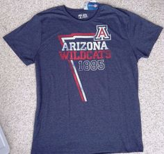 NEW Mens(2XL XXL) ARIZONA WILDCATS T-SHIRT Heather-Navy-Blue Vtg-Faded-Look  1885  UniversityT  ArizonaWildcats 2f2fd3020995