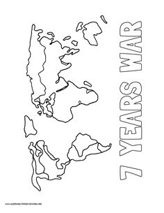 World History Coloring Pages Printables 7 Years War