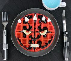 Darth Maul waffles or Darth Maul-ffles if you prefer!