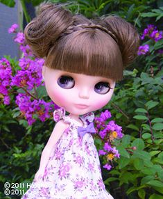 beautiful hairstyle for blythe