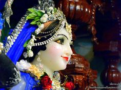Sri Radha Close up Wallpaper
