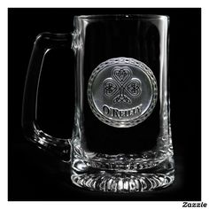Irish Pride Personalized Beer Mug,made by Crystal Imagery Inc.