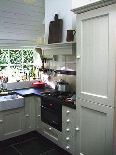 klassieke keuken in woonboerderij