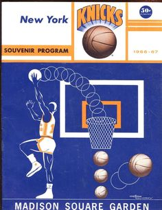 sports shoes 52ffd 3617e 1966 1967 NBA Basketball Program Boston Celtics at New York Knicks VGEX  Babe Ruth,