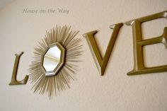 Love with a Sunburst Mirror DIY