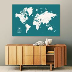 Tan Oceans World Travel Map With Pins Travel Maps And Ocean - Personalized us travel map