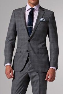 Vincero Light Gray Plaid Suit