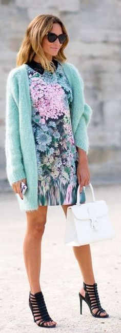 Mint Cardi Outfit Idea by Make Life Easier