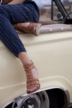 Cute studded sandals..#RRRoadtrip #RACHELRachelRoy