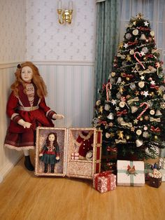 HELLO DOLLY: Xaviera with her Xmas Doll-trunk