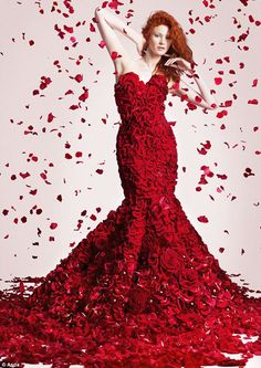 Valentine's Day dress of flowers#LoveIsInTheAir #Love #Hearts