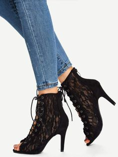 6d252ac130d 15 Most inspiring black peep toe boots images in 2019