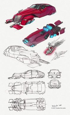 AnatoRef | Sci-Fi Vehicle Concept Art by Dmitry Popov