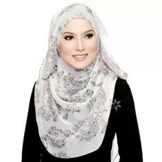 Veey soft color printed hijab....