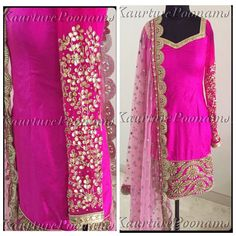 This Kaurture piece is utter perfection! Love the gotapatti details and pink-on-pink combination!