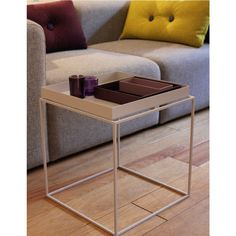 Replacing a larger coffee table with a combination of smaller side tables is the idea behind the collection of tray tables. Hay Tray Table, Design Online Shop, Large Coffee Tables, Table Furniture, Side Tables, Habitats, Larger, Rooms, Collection
