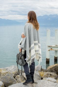 11.14 two countries, one cape (Claudie Pierlot cape + Reiss sweater + Banana Republic pants + Isabel Marant boots + Mulberry bag)