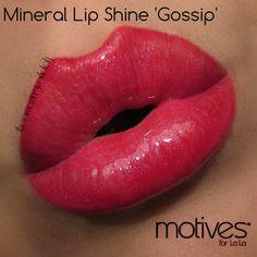 """Gossip"". Motives® La La Mineral Lip Shine. Available at  http://us.opc3.com/mabelchan/product/motives-la-la-mineral-lip-shine/?id=105MLMG&skuName=gossip&idType=sku"