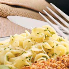 Parmesan Herbed Noodles; easy side dish to crispy chicken or other entree.