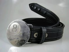 Eightball Belt Buckle  Etched Stainless Steel  by RhythmicMetal, $60.00