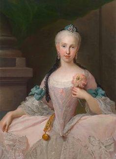 Maria Amalia of Saxony by Giuseppe Bonito (auctioned) | Grand Ladies | gogm