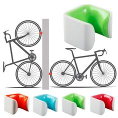 Bicycle new Road Bike Wall Parking Buckle Bicycle Wheel Clamp Parking Frame Easy to install and use accessories