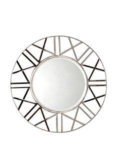 Large Round Mirror, Round Mirrors, Zig Zag, Contemporary Design, Silver, Home Decor, Decoration Home, Large Circle Mirror, Money