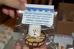 melted snowman s'mores-cute little class gift idea