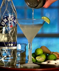 Key lime cocktail: a daiquiri made with key lime juice, photo by Donna Turner Ruhlman
