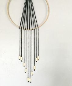 Easy to make DIY Boho Wall Hanging. Great way to use those old embroidery hoops!