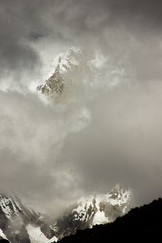 Siula Grande Shrouded By Clouds, Cordillera Huayhuash, Peru