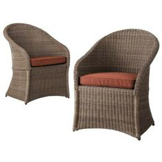 Our dining chairs: Threshold™ Holden Wicker Patio Dining Chair Set Furniture Update, Wicker Furniture, Furniture Sets, Outdoor Furniture, Funky Furniture, Wicker Patio Chairs, Patio Cushions, Outdoor Chairs, Outdoor Spaces